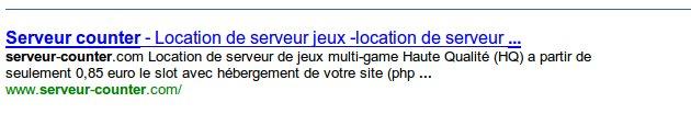 resultat google sans sitemap
