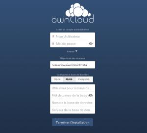 ecran installation owncloud 6