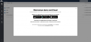 page acceuil owncloud