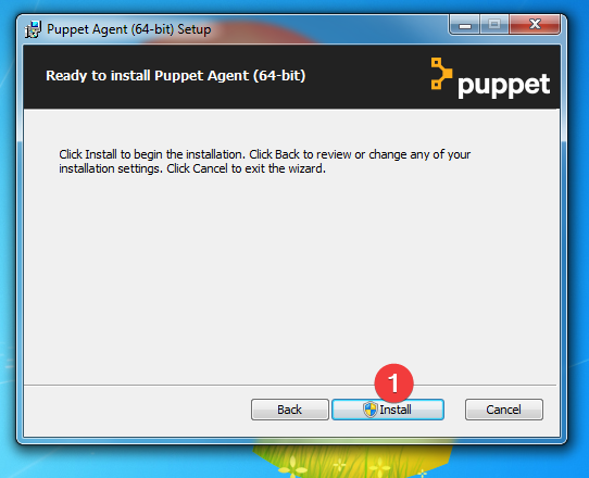 installation puppet agent windows