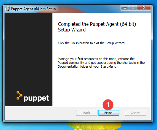 fin installation puppet agent windows